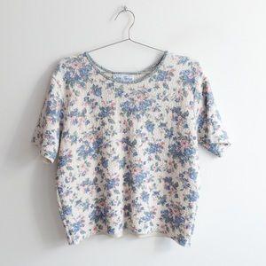 Vintage Knit Floral Top